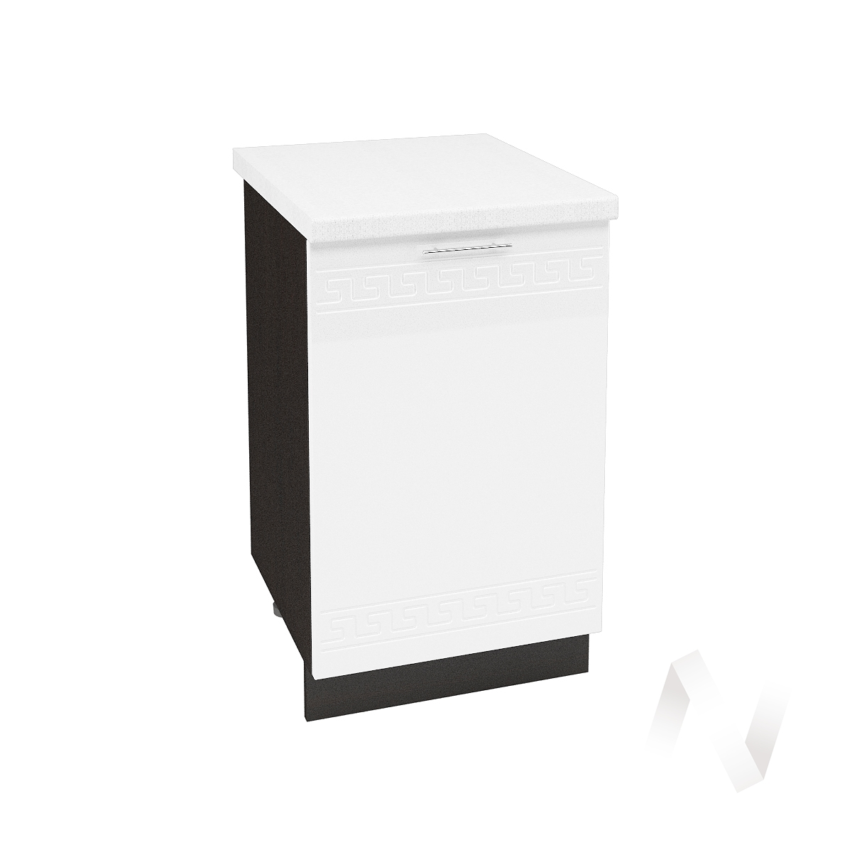 """Кухня """"Греция"""": Шкаф нижний 500, ШН 500 (белый металлик/корпус венге)"""