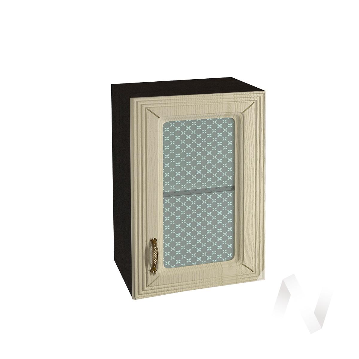 """Кухня """"Изабель"""": Шкаф верхний со стеклом 500, ШВС 500 (корпус венге)"""