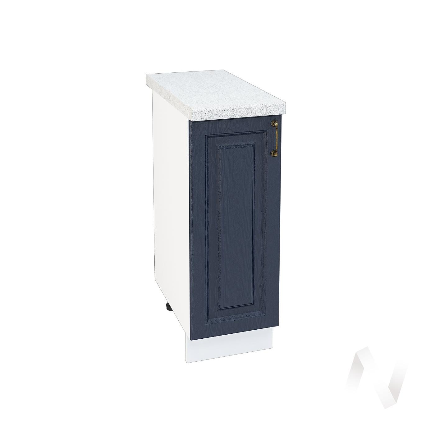 """Кухня """"Ницца"""": Шкаф нижний 300, ШН 300 (Дуб чернильный/корпус белый)"""