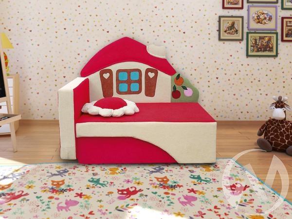 Домик диван детский левый