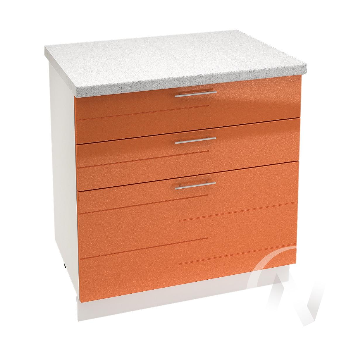 """Кухня """"Техно"""": Шкаф нижний с 3-мя ящиками 800, ШН3Я 800 (корпус белый)"""