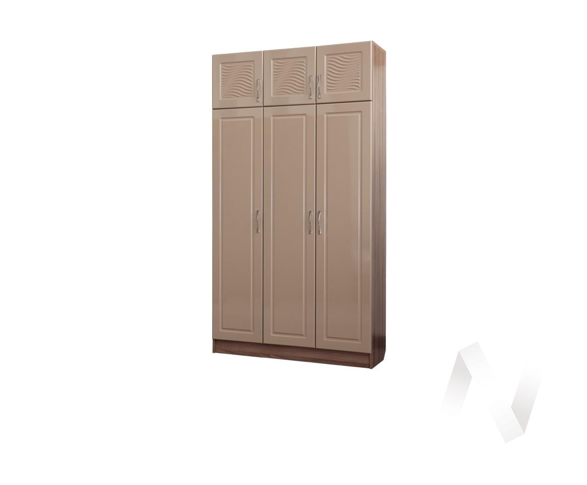 Шкаф 3х створчатый Прихожая Вега (ясень шимо темный-мокко глянец)