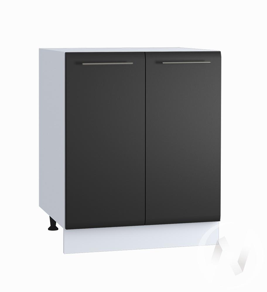 "Кухня ""Люкс"": Шкаф нижний 600, ШН 600 (Шелк венге/корпус белый)"