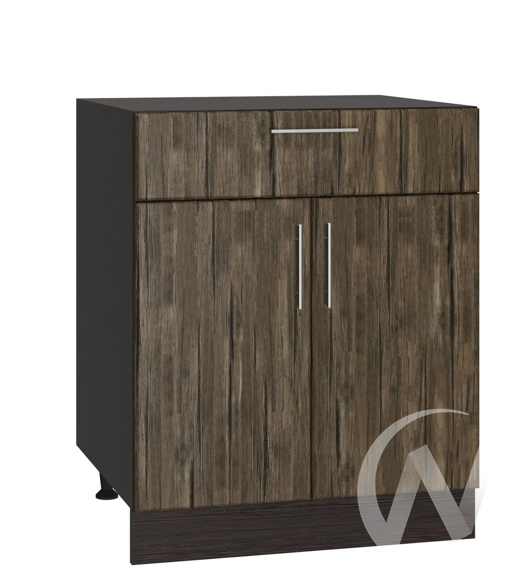 """Кухня """"Норден"""": Шкаф нижний с ящиком 600, ШН1Я 600 М (старое дерево/корпус венге)"""