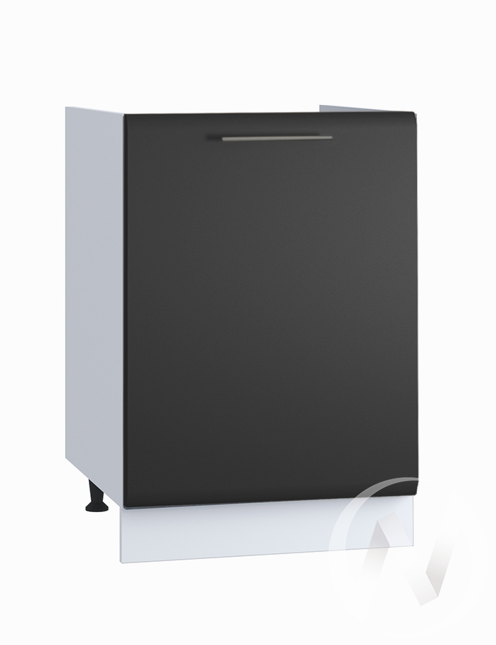 "Кухня ""Люкс"": Шкаф нижний под мойку 500, ШНМ 500 (Шелк венге/корпус белый)"