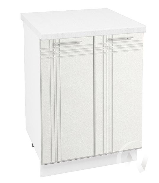 """Кухня """"Струна"""": Шкаф нижний 600, ШН 600 (белый металлик/корпус белый)"""