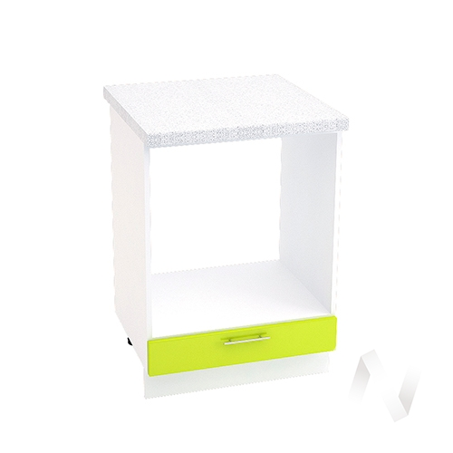 "Кухня ""Валерия-М"": Шкаф нижний под духовку 600, ШНД 600 (лайм глянец/корпус белый)"