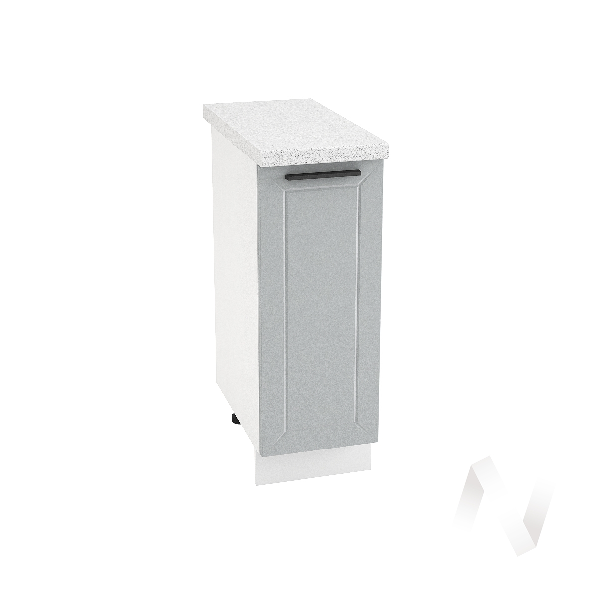 "Кухня ""Глетчер"": Шкаф нижний 300, ШН 300 (Гейнсборо силк/корпус белый)"