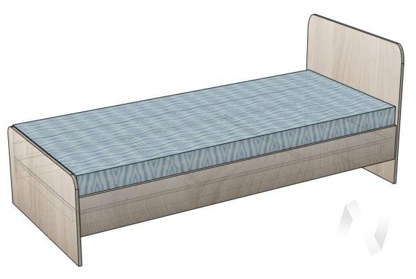 Кровать Ксения 800*1900 б/м (миланский орех)