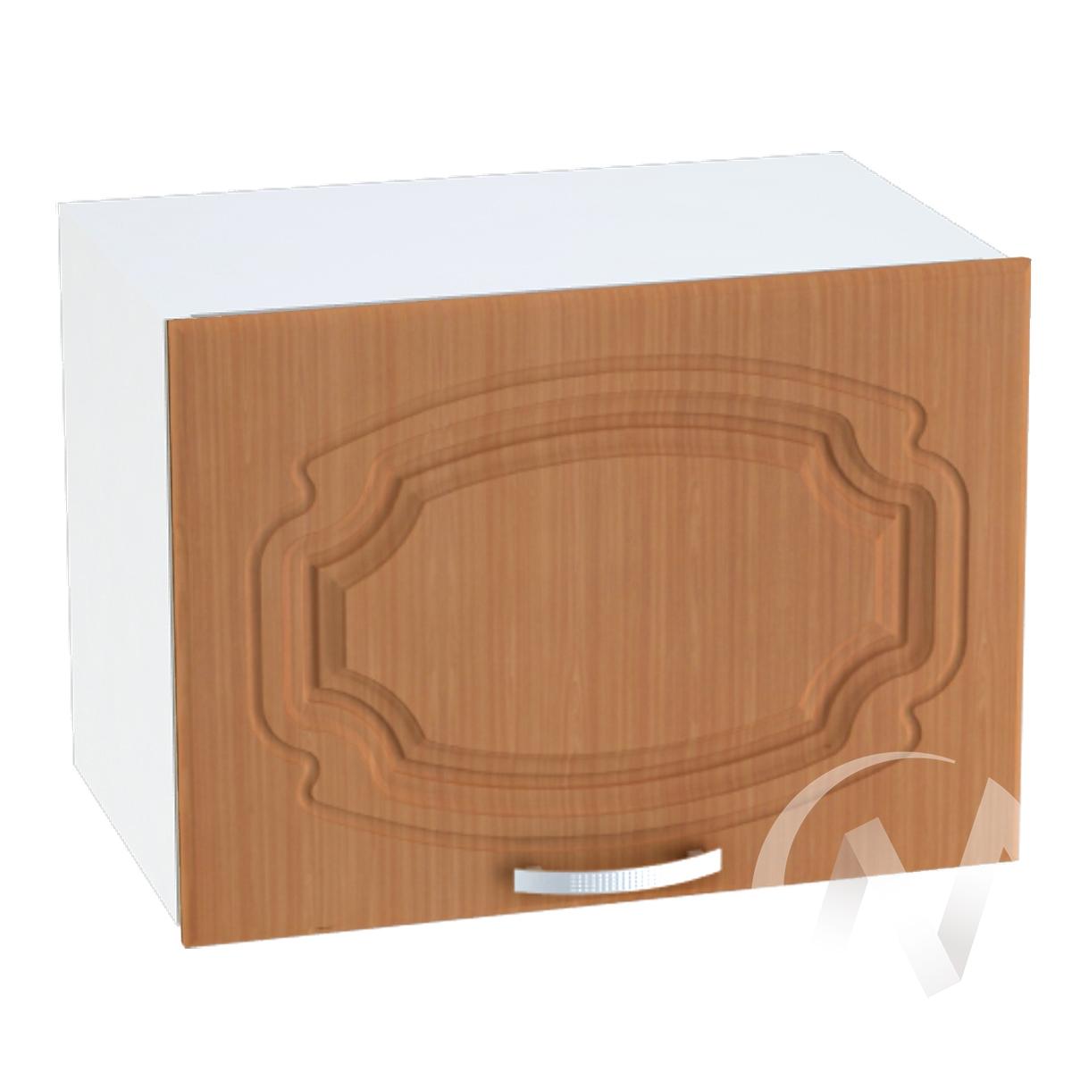 """Кухня """"Настя"""": Шкаф верхний горизонтальный 509, ШВГ 509 (Орех миланский/корпус белый)"""