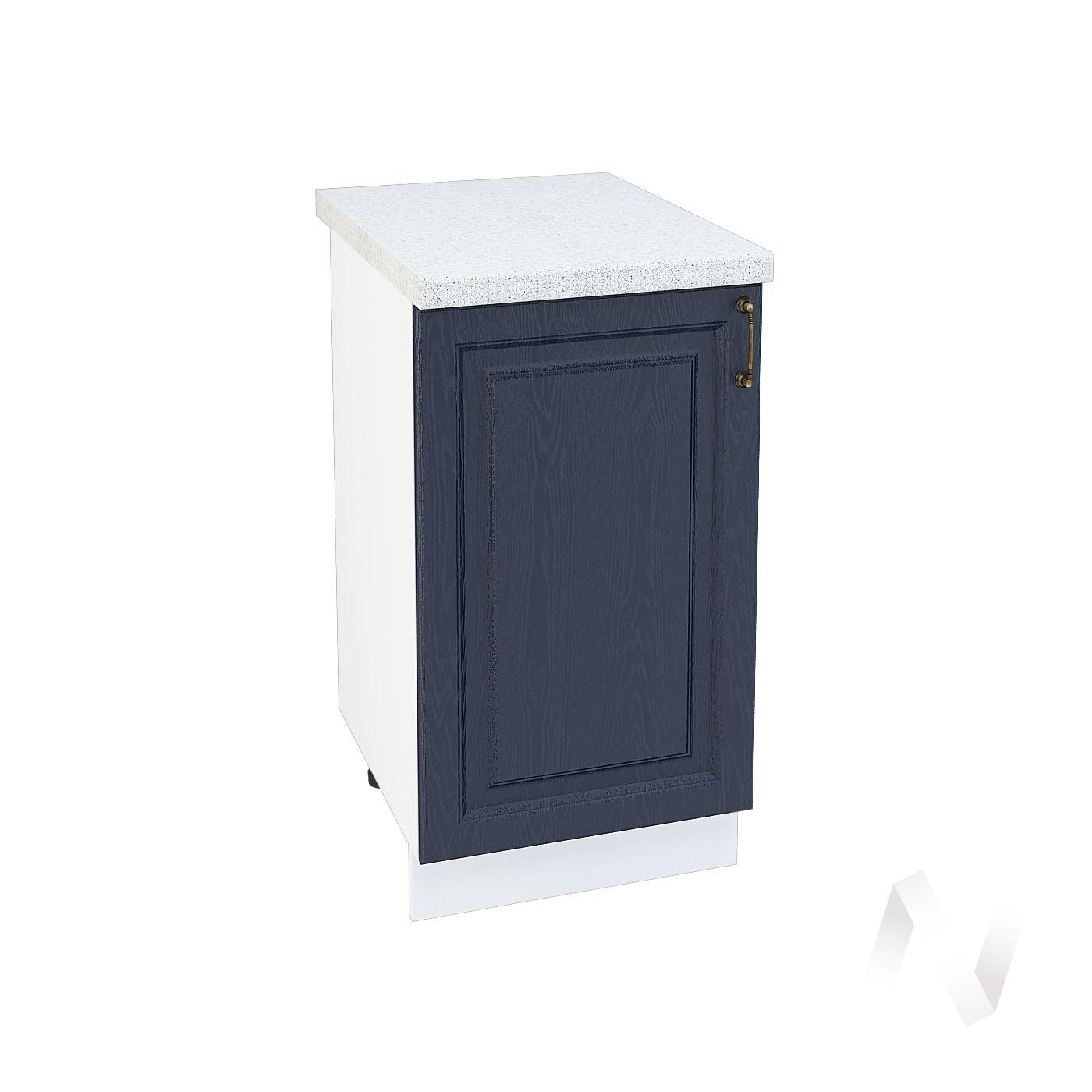 """Кухня """"Ницца"""": Шкаф нижний 450, ШН 450 (Дуб чернильный/корпус белый)"""