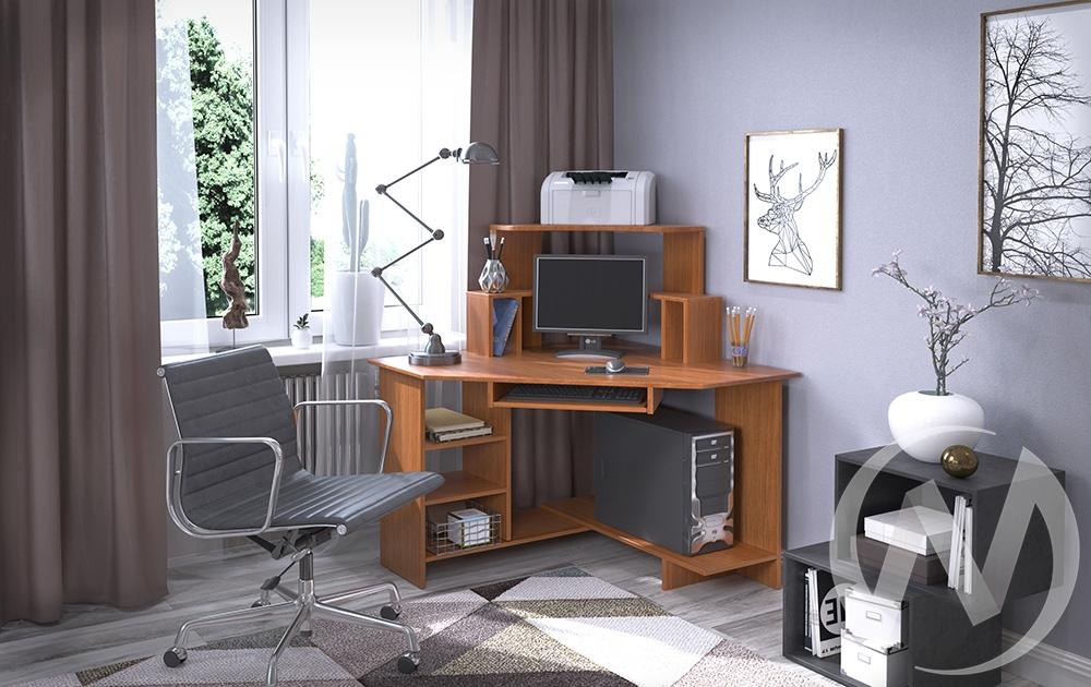 Компьютерный стол СК-11 угловой (миланский орех)  в Новосибирске - интернет магазин Мебельный Проспект
