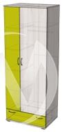 Глобус 1 шкаф (ясень шимо светлый/лайм)  в Томске — интернет магазин МИРА-мебель