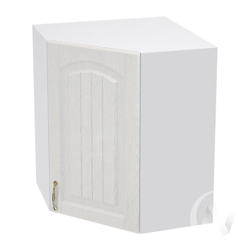"""Кухня """"Верона"""": Шкаф верхний угловой 590 правый, ШВУ 590  (ясень золотистый/корпус белый)"""