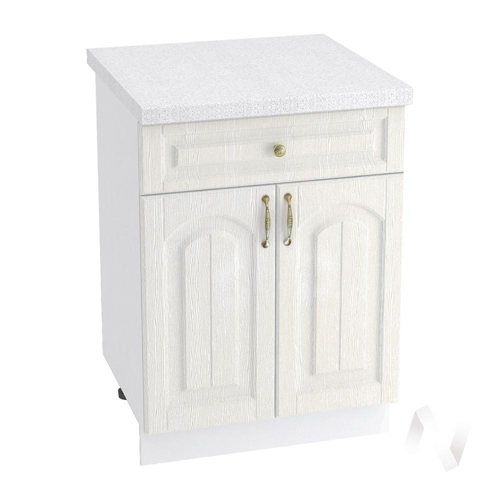 """Кухня """"Верона"""": Шкаф нижний с ящиком 600, ШН1Я 600 М (ясень золотистый/корпус белый)"""