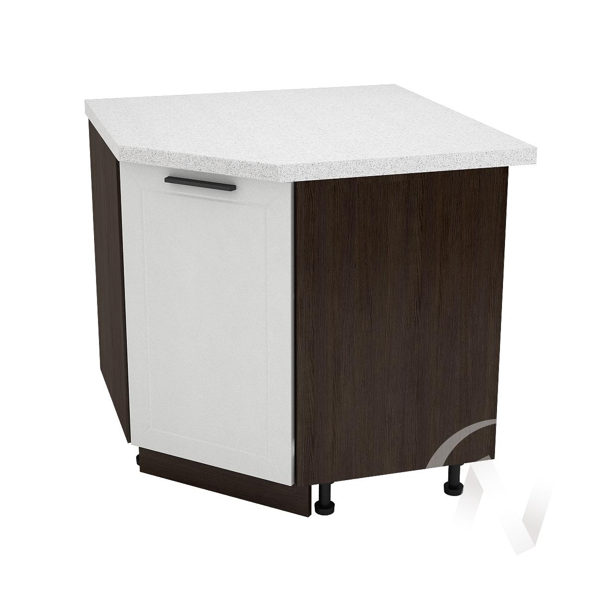 """Кухня """"Глетчер"""": Шкаф нижний угловой 890, ШНУ 890 (Айленд Силк/корпус венге)"""