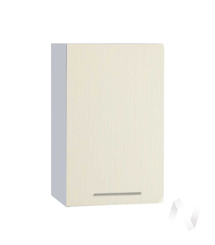 """Кухня """"Люкс"""": Шкаф верхний 400, ШВ 400 (Шелк жемчуг/корпус белый)"""