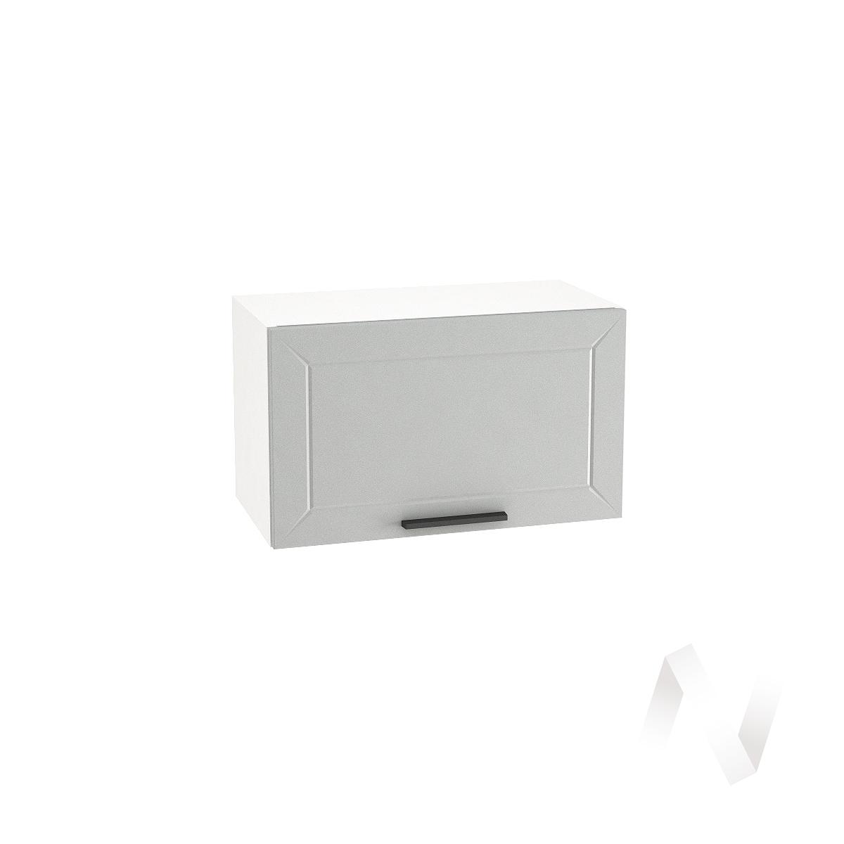 """Кухня """"Глетчер"""": Шкаф верхний горизонтальный 600, ШВГ 600 (Гейнсборо Силк/корпус белый)"""
