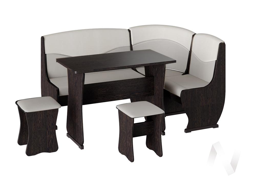 Кухонный уголок Уют 2 универсал кожзам (венге/серый,белый)  в Томске — интернет магазин МИРА-мебель