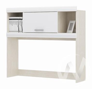 Надстройка стола Симба (дуб белфорт/белый глянец)