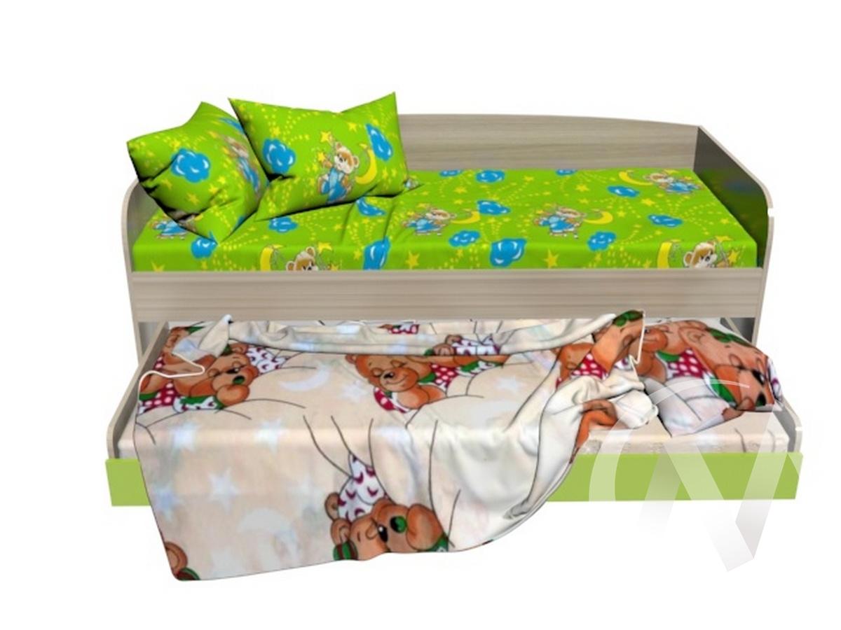 Глобус 1 кровать двухспальная (ясень шимо светлый/лайм)