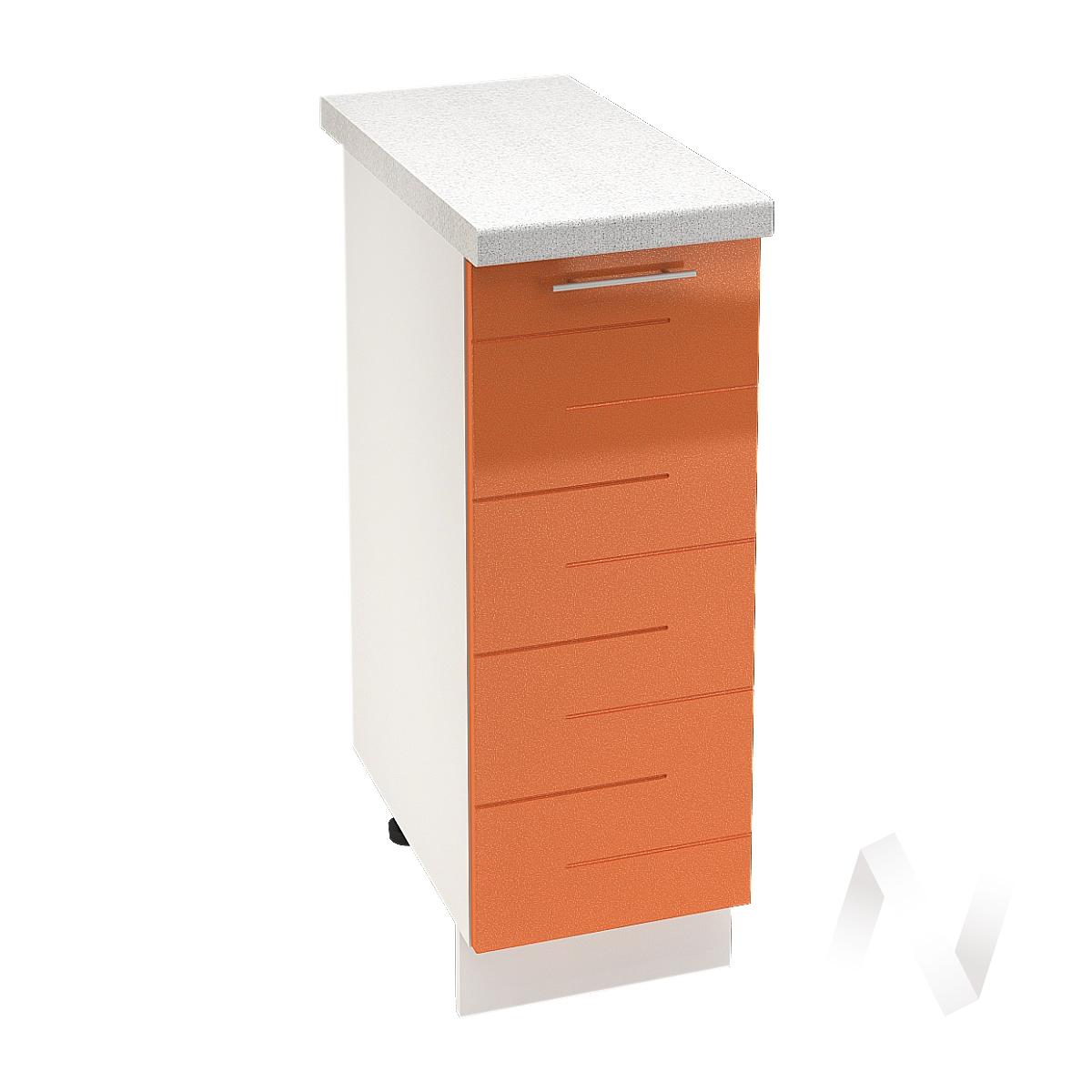 """Кухня """"Техно"""": Шкаф нижний 300, ШН 300 (корпус белый)"""