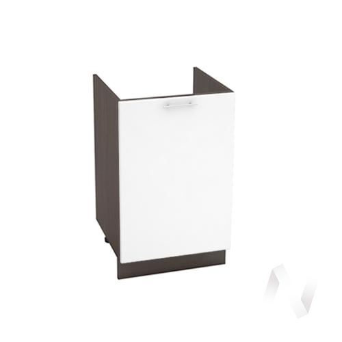 "Кухня ""Валерия-М"": Шкаф нижний под мойку 500, ШНМ 500 (белый глянец/корпус венге)"