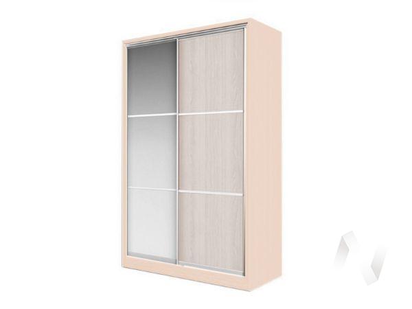 Шкаф-купе «Элвис» 2-х дверный тройной с зеркалом (дуб сонома/шимо светлый)