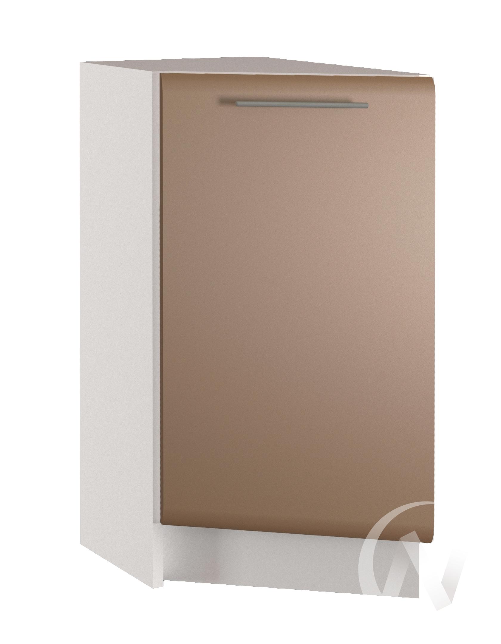 """Кухня """"Люкс"""": Шкаф нижний торцевой 300, ШНТ 300 (Шоколад матовый/корпус белый)"""