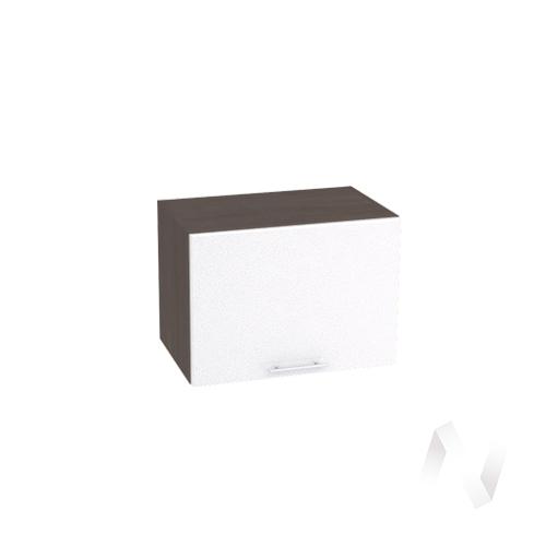 """Кухня """"Валерия-М"""": Шкаф верхний горизонтальный 500, ШВГ 500 (белый металлик/корпус венге)"""