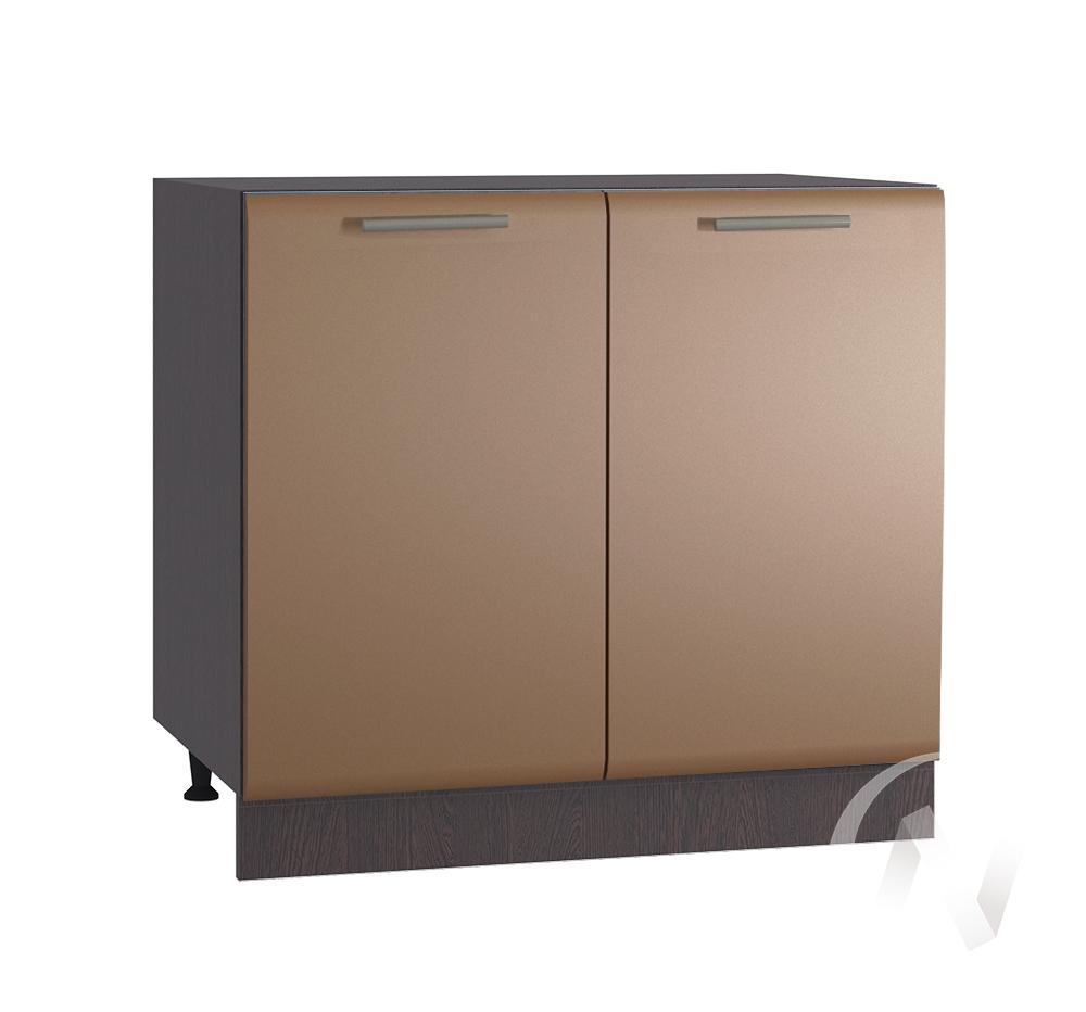 """Кухня """"Люкс"""": Шкаф нижний 800, ШН 800 (Шоколад матовый/корпус венге)"""