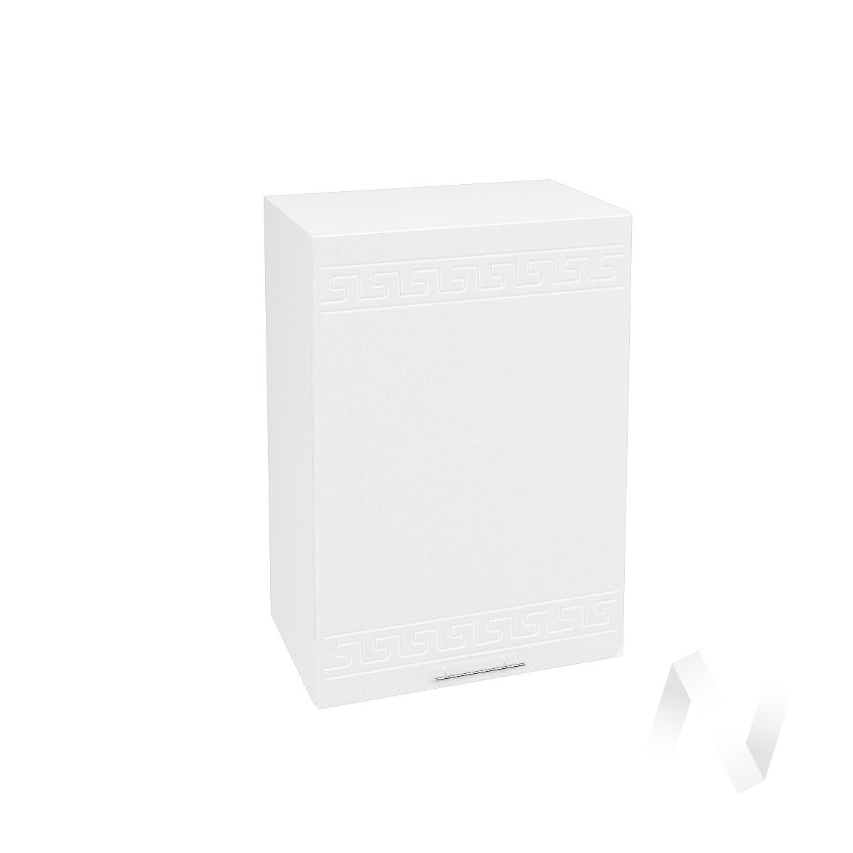 """Кухня """"Греция"""": Шкаф верхний 500, ШВ 500 (белый металлик/корпус белый)"""