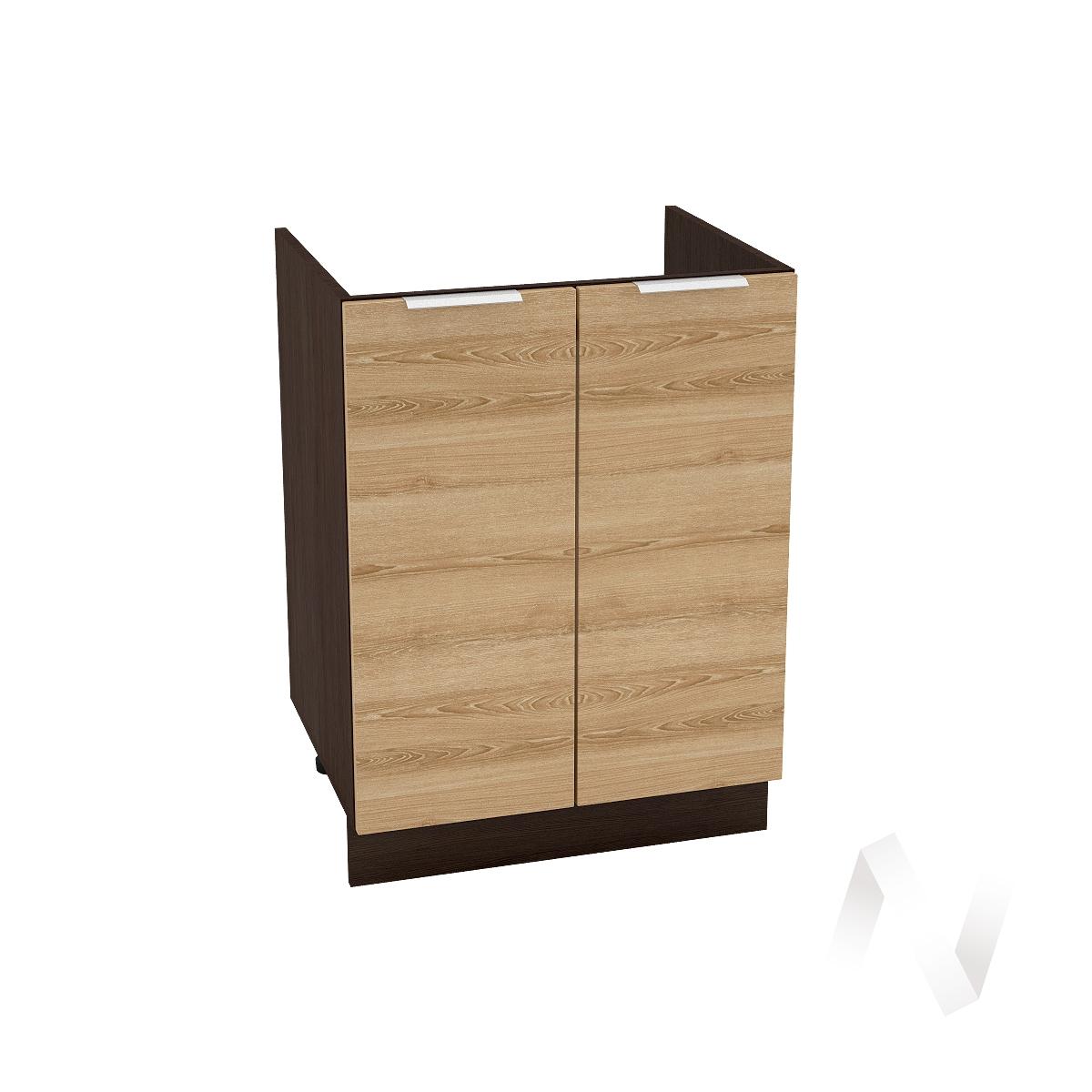 """Кухня """"Терра"""": Шкаф нижний под мойку 600, ШНМ 600 (ель карпатская/корпус венге)"""