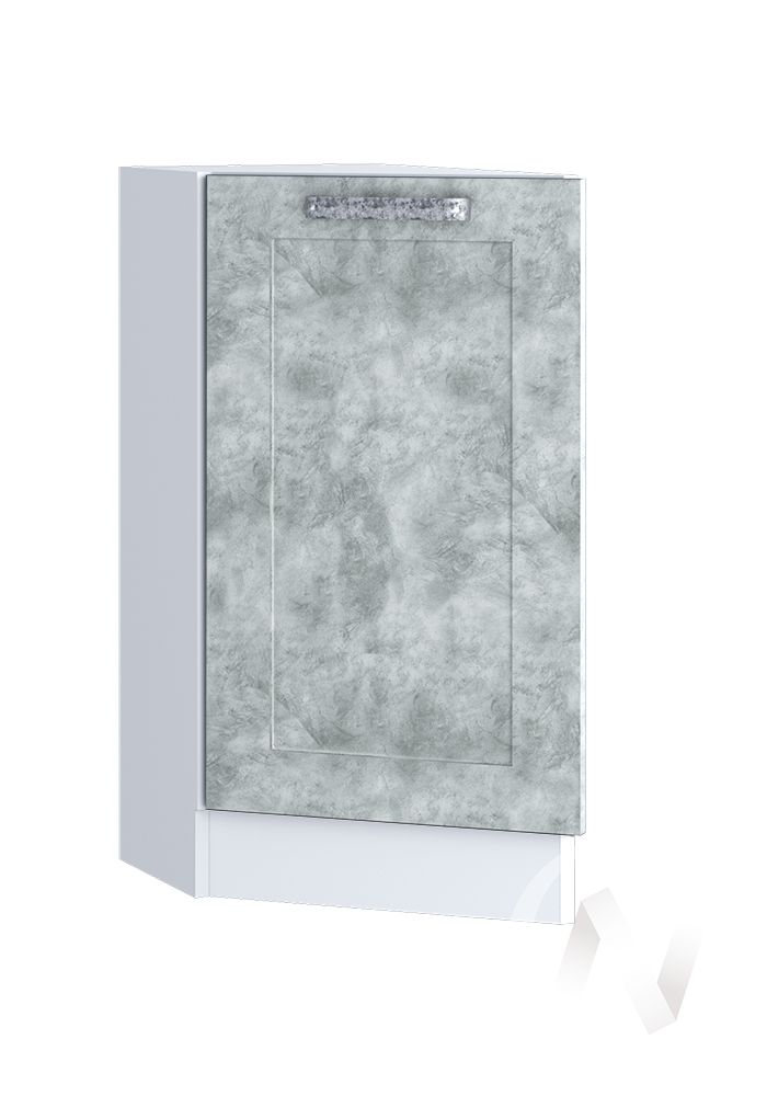 "Кухня ""Лофт"": Шкаф нижний торцевой 300, ШНТ 300 (Бетон серый/корпус белый)"
