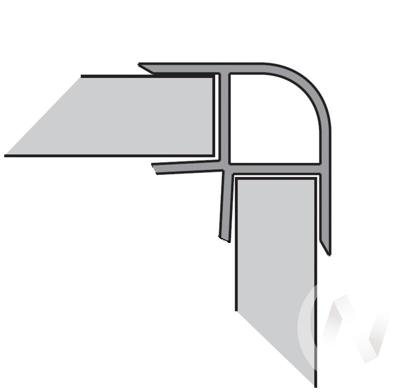 Угол 90* внутренний 100 мм (титан)  в Томске — интернет магазин МИРА-мебель