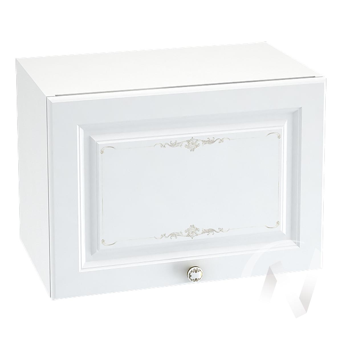 """Кухня """"Шарлиз"""": Шкаф верхний горизонтальный 500, ШВГ 500 (корпус белый)"""