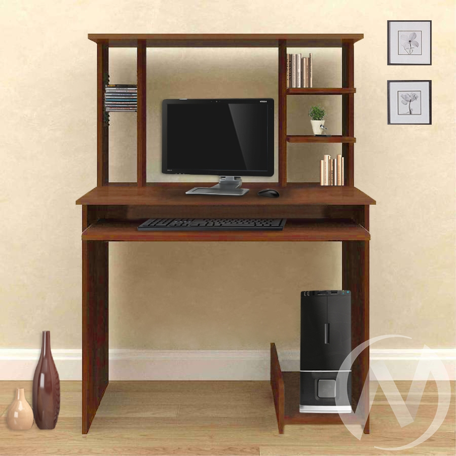 Компьютерный стол СК-7 (орех итальянский)  в Новосибирске - интернет магазин Мебельный Проспект