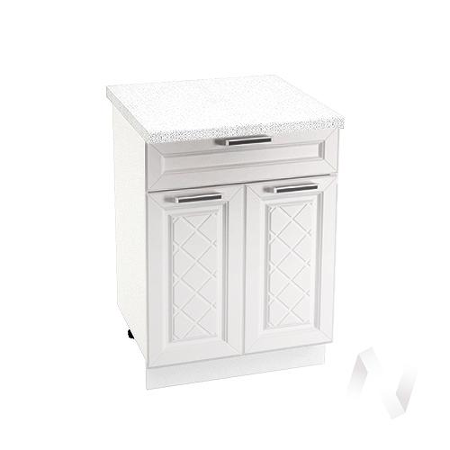 """Кухня """"Вена"""": Шкаф нижний с ящиком 600, ШН1Я 600 М (корпус белый)"""