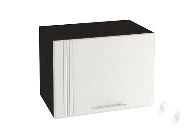 "Кухня ""Струна"": Шкаф верхний горизонтальный 500, ШВГ 500 (белый металлик/корпус венге)"