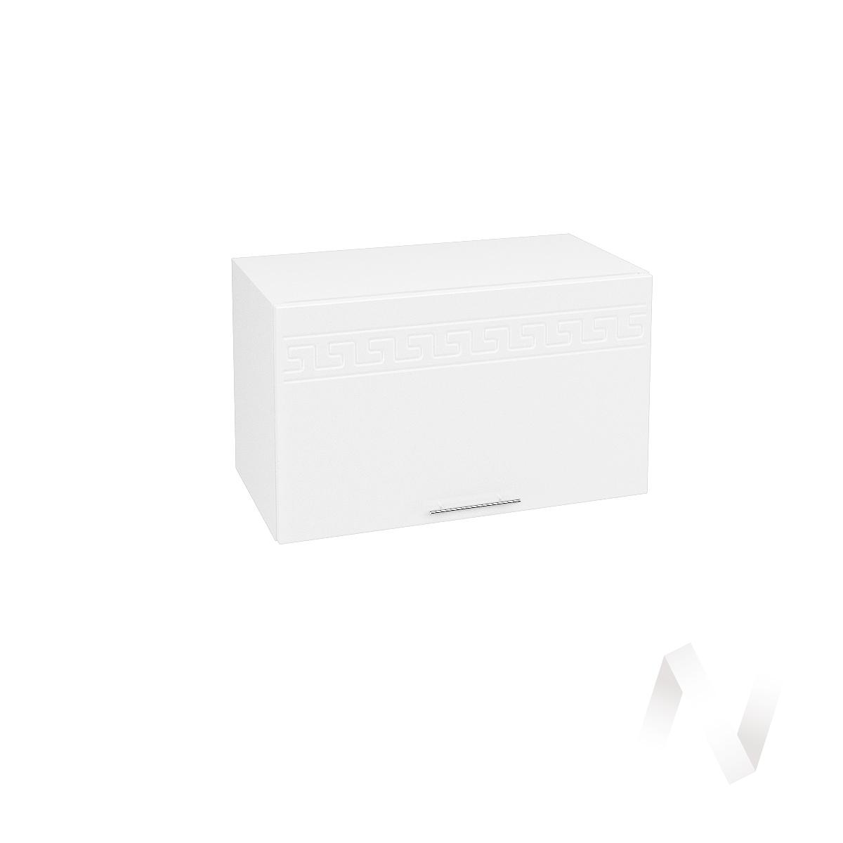 """Кухня """"Греция"""": Шкаф верхний горизонтальный 600, ШВГ 600 (белый металлик/корпус белый)  в Новосибирске - интернет магазин Мебельный Проспект"""