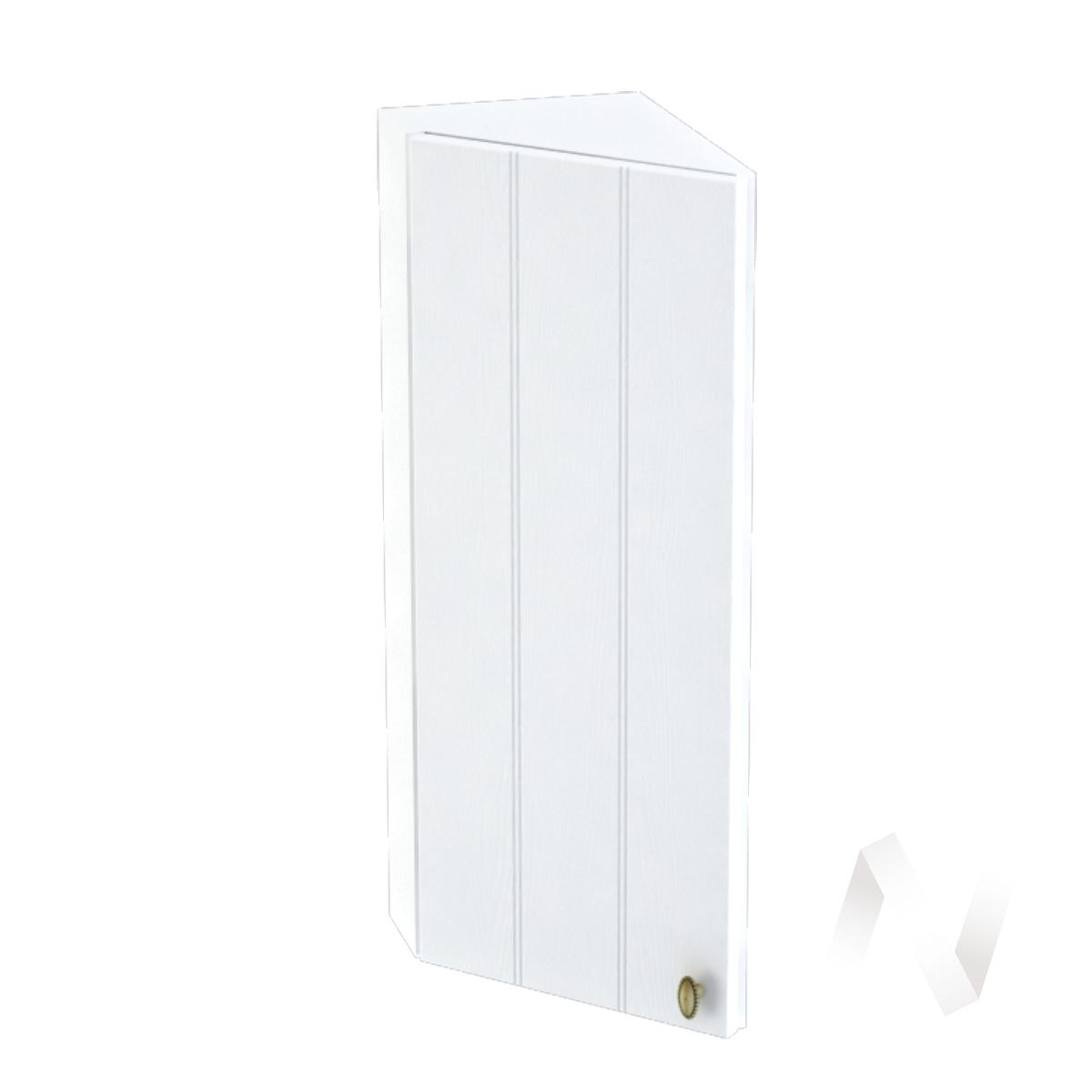 """Кухня """"Прованс"""": Шкаф верхний торцевой 224, ШВТ 224 (белое дерево/корпус белый)"""