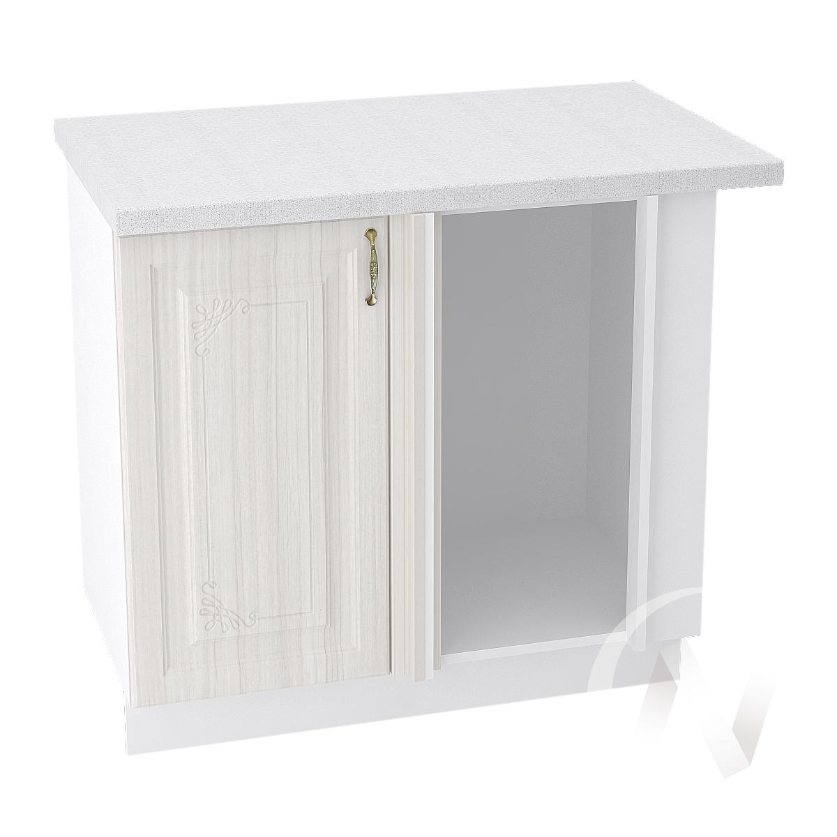 "Кухня ""Виктория"": Шкаф нижний угловой 990М, ШНУ 990М (корпус белый)"