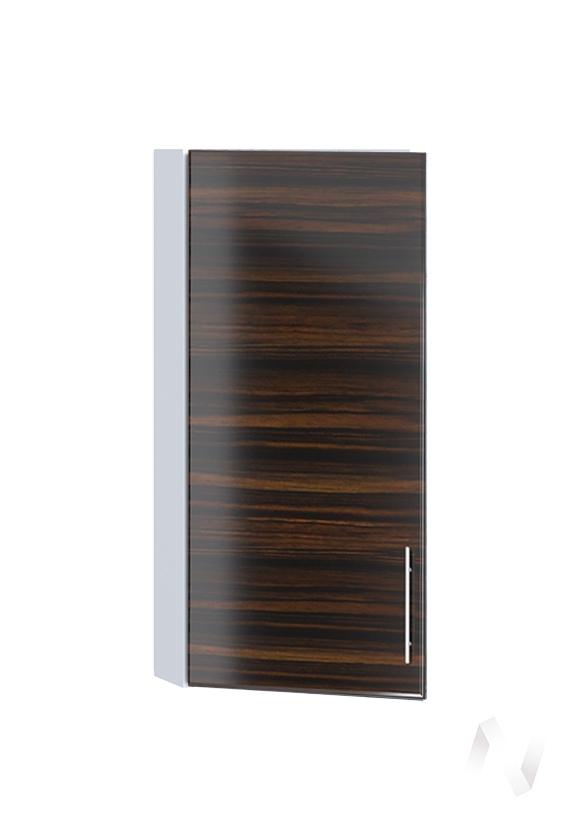 "Кухня ""Норден"": Шкаф верхний торцевой 224, ШВТ 224 (эбен/корпус белый)"