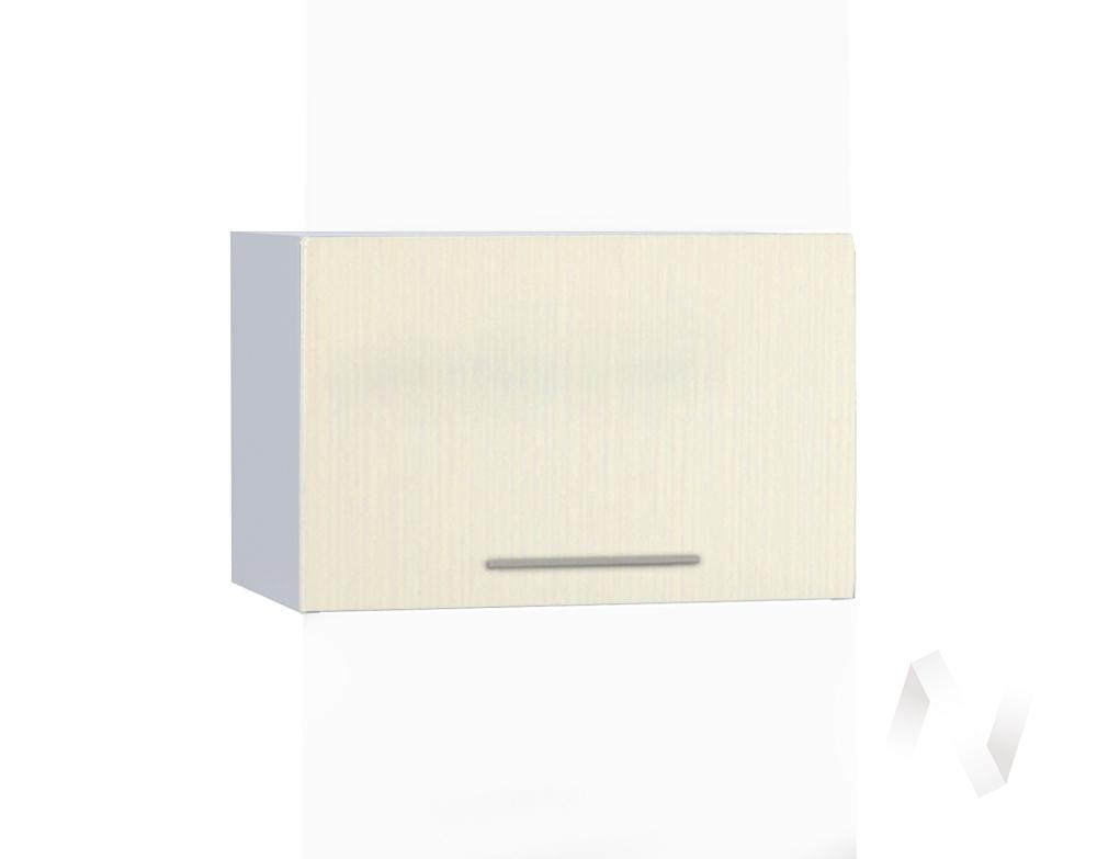 "Кухня ""Люкс"": Шкаф верхний горизонтальный 500, ШВГ 500 (Шелк жемчуг/корпус белый)"