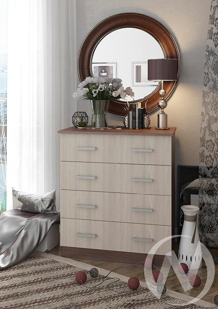 Комод №6 (К-6) (шимо темный,шимо светлый/шимо светлый)  в Томске — интернет магазин МИРА-мебель