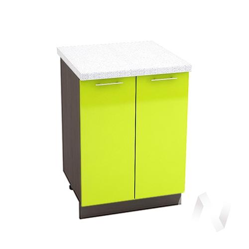 "Кухня ""Валерия-М"": Шкаф нижний 600, ШН 600 (лайм глянец/корпус венге)"