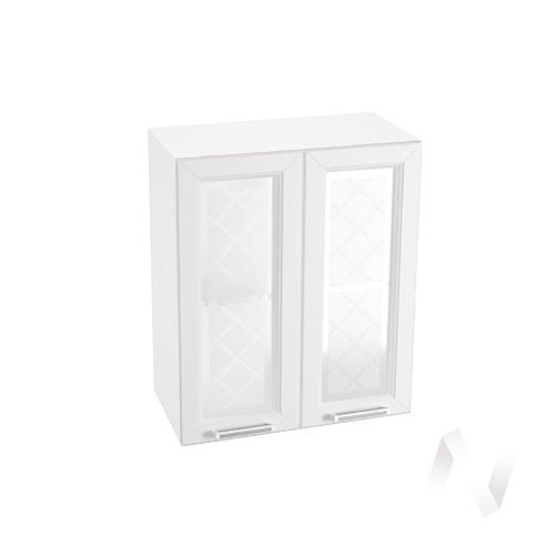 "Кухня ""Вена"": Шкаф верхний со стеклом 600, ШВС 600 (корпус белый)"