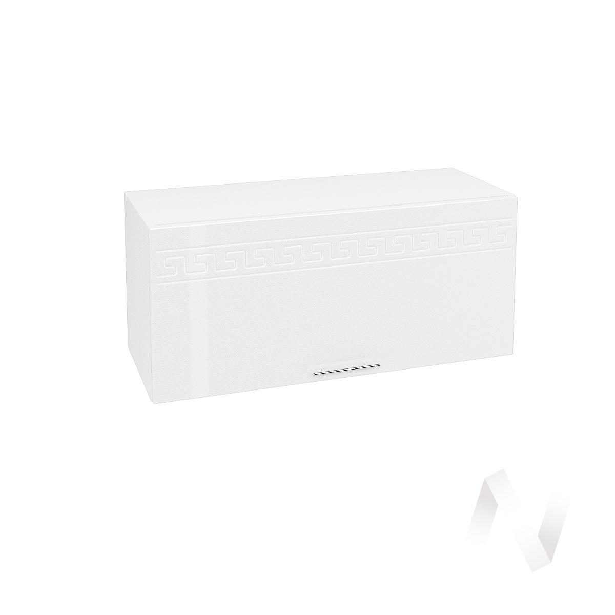 "Кухня ""Греция"": Шкаф верхний горизонтальный 800, ШВГ 800 (белый металлик/корпус белый)"
