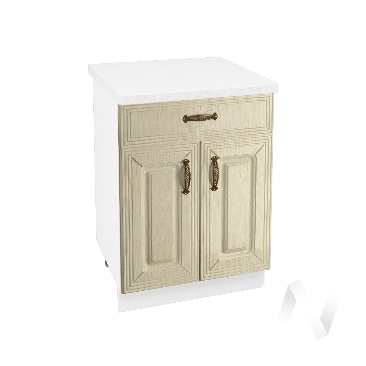 """Кухня """"Изабель"""": Шкаф нижний с ящиком 600, ШН1Я 600 М (корпус белый)"""
