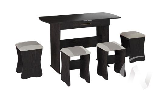 Обеденная группа тип 2 кожзам (венге/серый,белый)  в Томске — интернет магазин МИРА-мебель